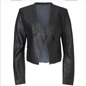 BCBGMaxAzria NWT Black Lloyd faux Leather Jacket